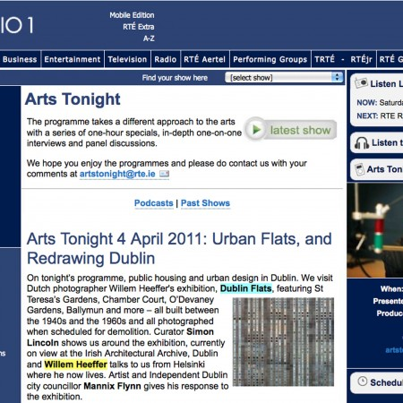 RTE Radio 1 Arts Tonight 01