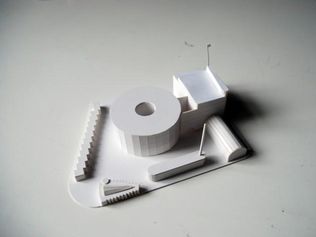 cardboard model Alko factory