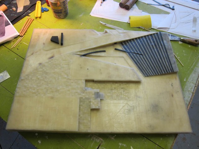 wax model in progress