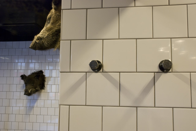 bolt hooks on tiles