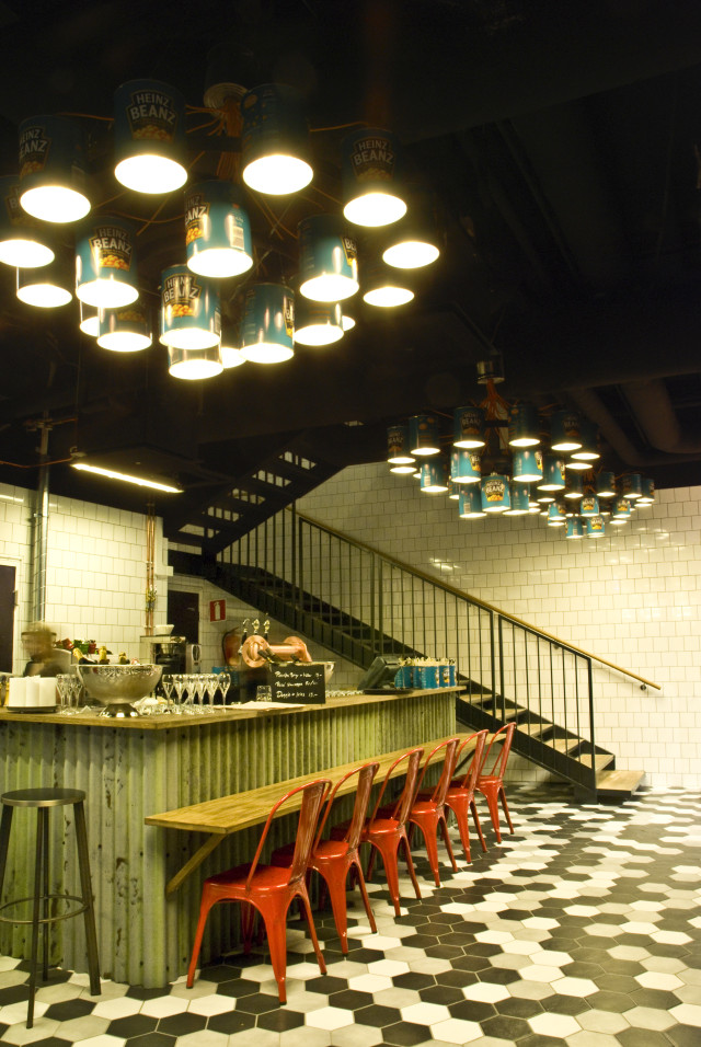 Heinz Beanz chandeliers